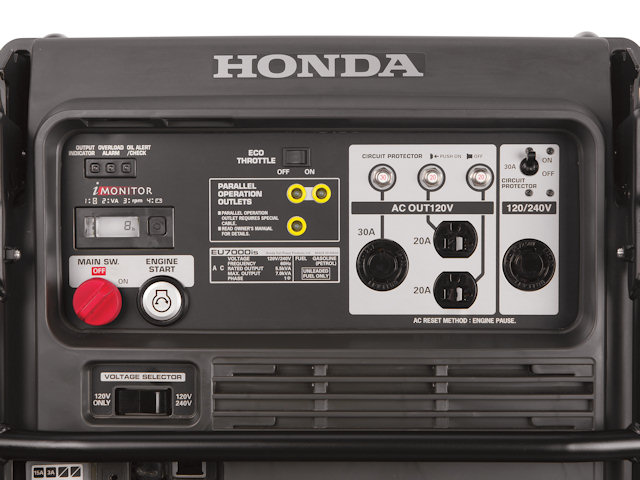 Панель управления бензогенератора Honda EU7000is