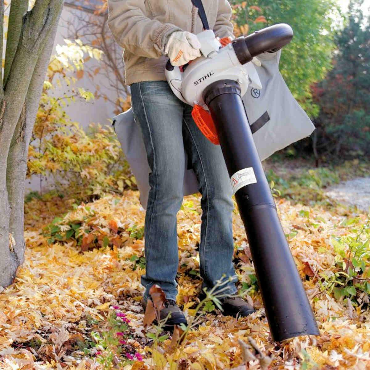 Использование садового пылесоса Stihl SH 56