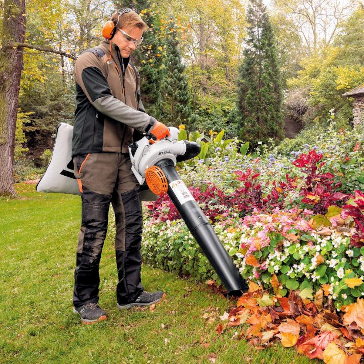Использование садового пылесоса Stihl SH 86